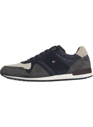 Tommy Hilfiger Erkek Iconıc Materıal Mıx R Sneakers FM0FM02407 Renkli